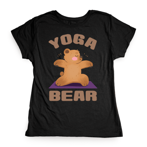 Yoga Bear Womens T-Shirt