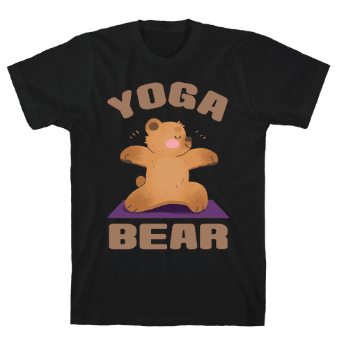 Yoga Bear Mens T-Shirt