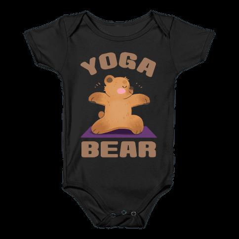 Yoga Bear Baby Onesy