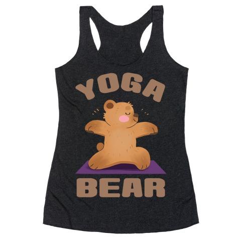 Yoga Bear Racerback Tank Top