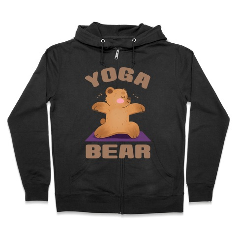 Yoga Bear Zip Hoodie