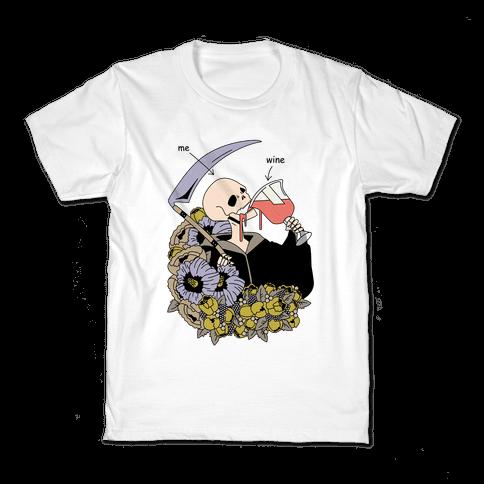 Me Wine Grime Reaper Drinking Kids T-Shirt