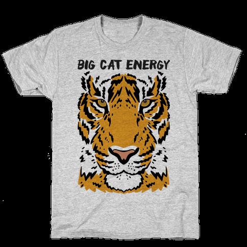 Big Cat Energy Tiger Mens/Unisex T-Shirt