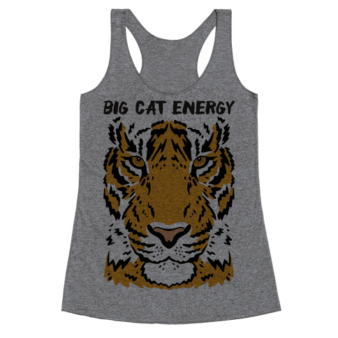 Big Cat Energy Tiger Racerback Tank Top