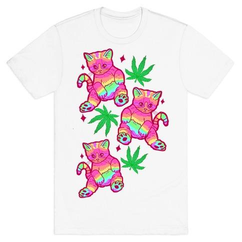 Rainbow Weed Kitty T-Shirt