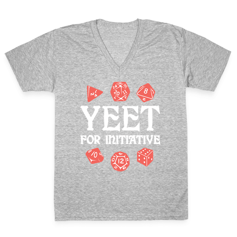 Yeet For Initiative V-Neck Tee Shirt