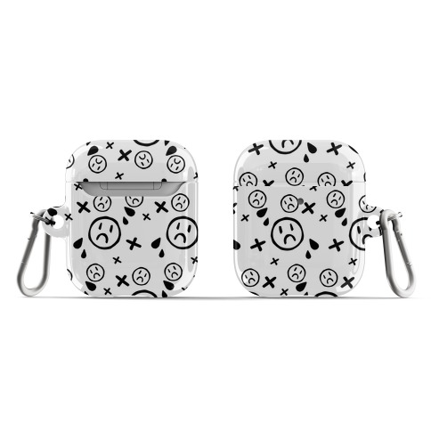 Emo Pattern White AirPod Case