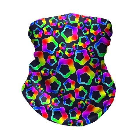 Squishy Rainbow Stars Neck Gaiter