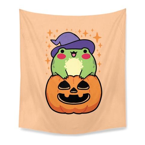 Cute Halloween Frog Tapestry