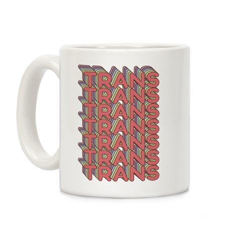 Trans Retro Rainbow Coffee Mug