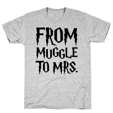 From Muggle To Mrs. Parody Mens T-Shirt