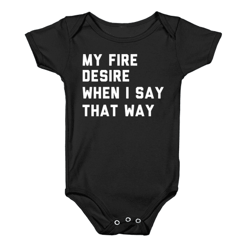 I Want It That Way Lyrics (1 of 2 pair) Baby Onesy