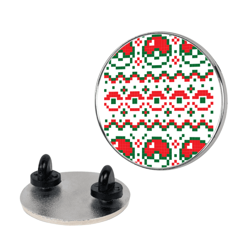 Pokéball Ugly Christmas Sweater Pattern pin