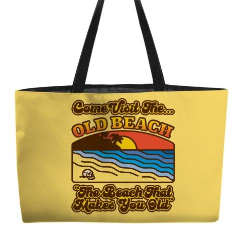 Come Visit The Old Beach Parody Weekender Tote