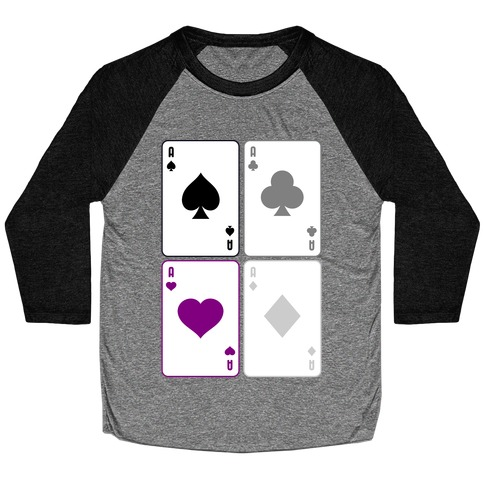 Asexual Aces Pattern Baseball Tee