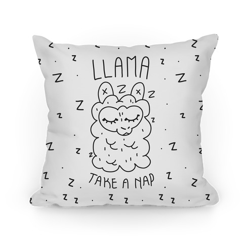 Llama Take a Nap Pillow
