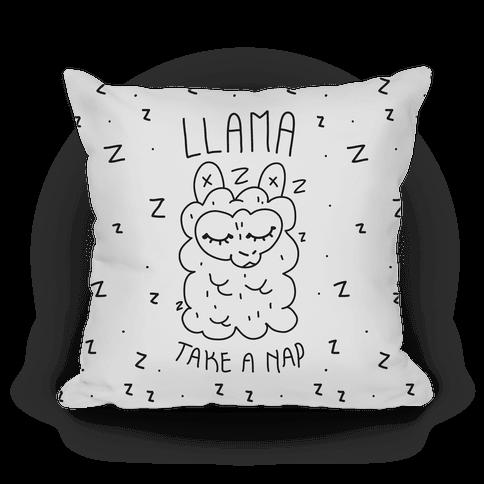 Llama Take a Nap Pillow