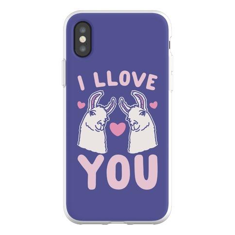 I LLove You LLama Valentine Parody Phone Flexi-Case