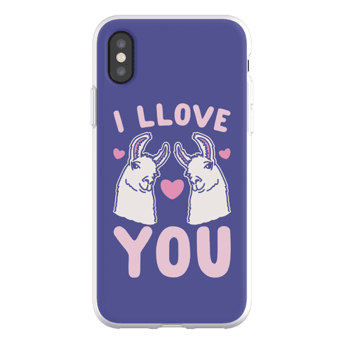 I LLove You LLama Valentine Parody Phone Flexi-Case