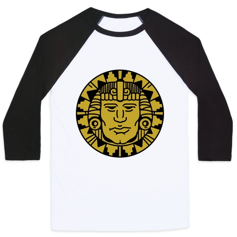 Hidden Temple Olmec Coin Baseball Tee