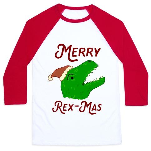 Merry Rex-mas Baseball Tee