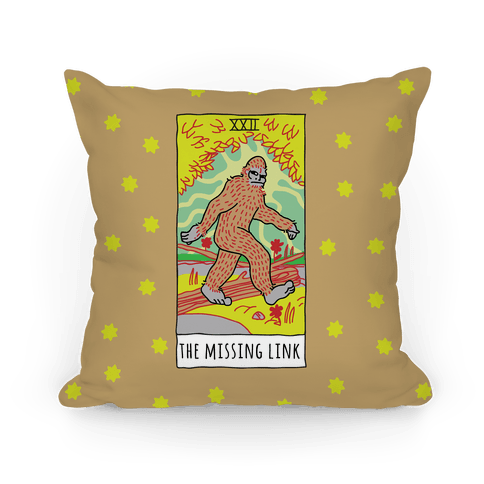 The Missing Link Bigfoot Tarot Pillow