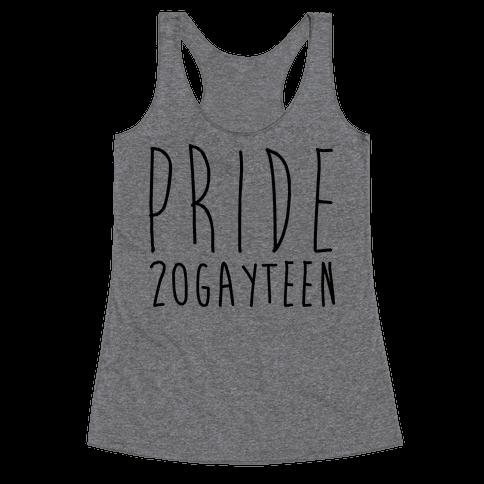 Pride 20gayteen  Racerback Tank Top