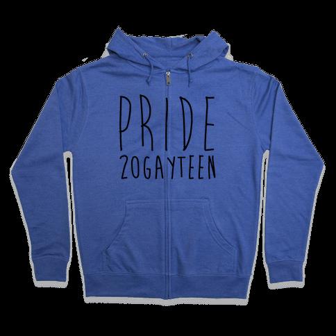 Pride 20gayteen  Zip Hoodie