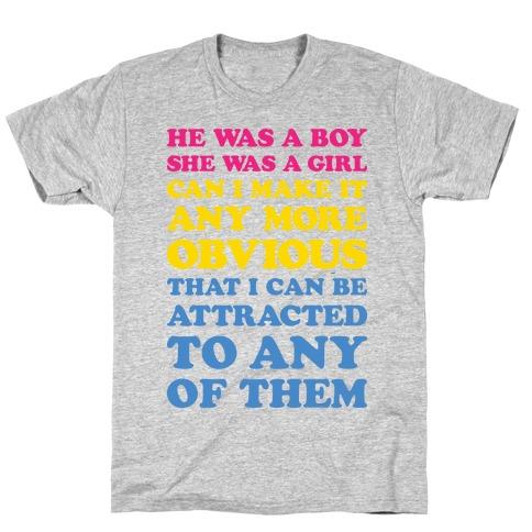 Sk8er Boi Pansexual Parody T-Shirt