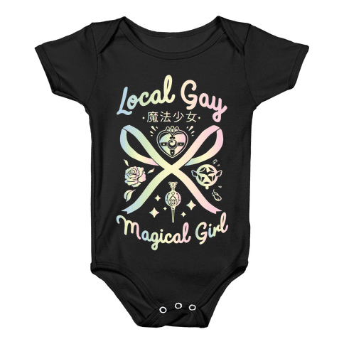 Local Gay Magical Girl Baby Onesy