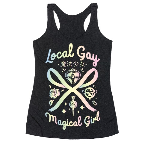 Local Gay Magical Girl Racerback Tank Top