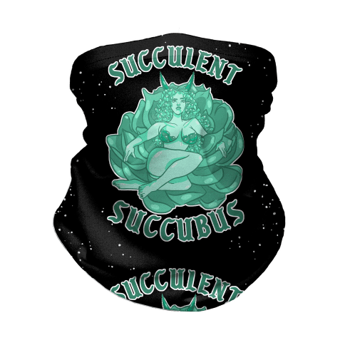Succulent Succubus Dark Back Neck Gaiter