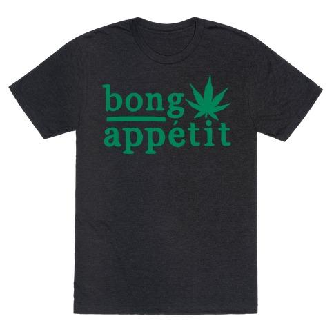 Bong Appetit Parody White Print T-Shirt