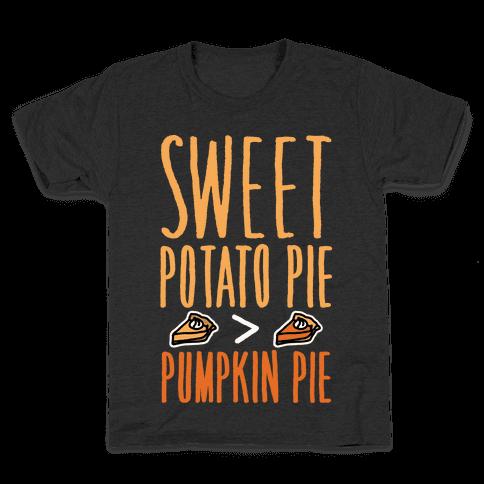 Sweet Potato Pie > Pumpkin Pie White Print Kids T-Shirt