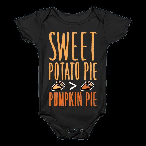 Sweet Potato Pie > Pumpkin Pie White Print Baby Onesy