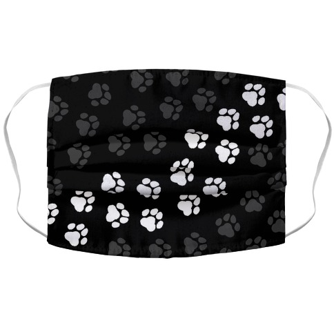 Paw Prints Accordion Face Mask