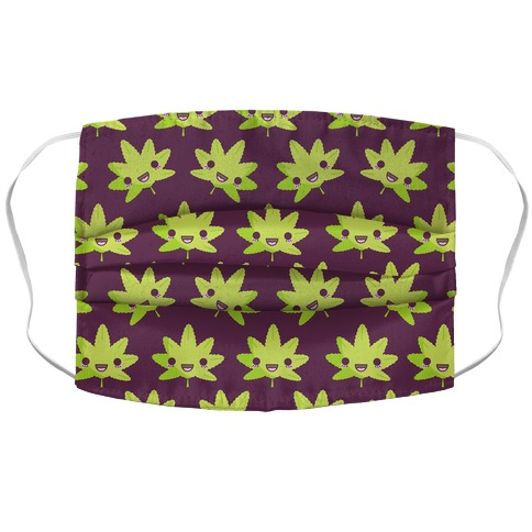 Kawaii Pot Leaf Face Mask