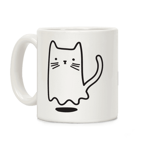 Ghost Cat Coffee Mug