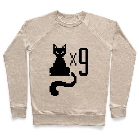 Retro Cat 9 lives Pullover
