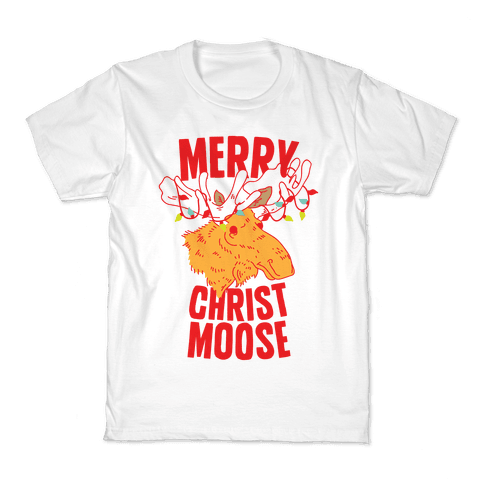 Merry Christ-Moose Kids T-Shirt