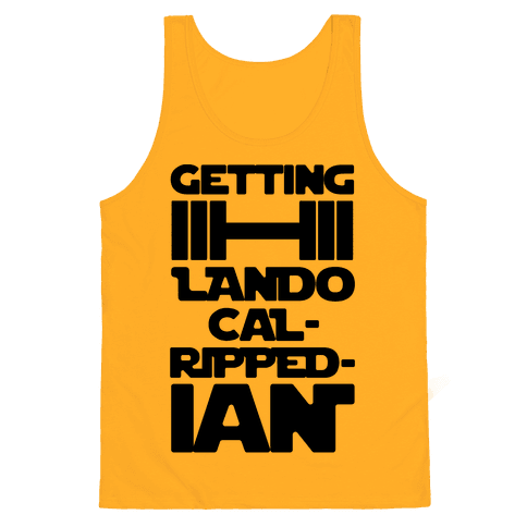 Getting Lando Cal-Ripped-ian Parody  Tank Top
