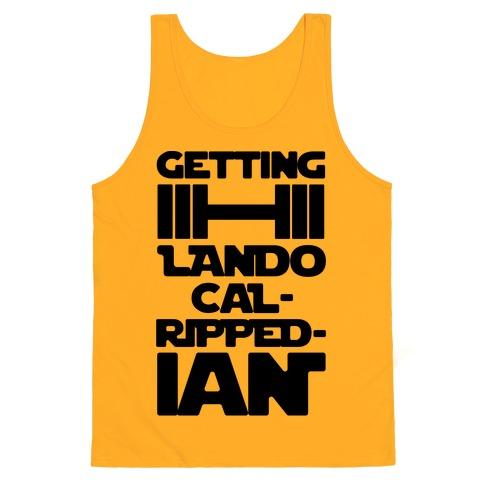 Getting Lando Cal-Ripped-ian Parody  Tank Top