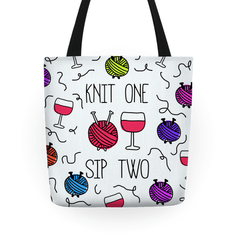 Knit One Sip Two Tote