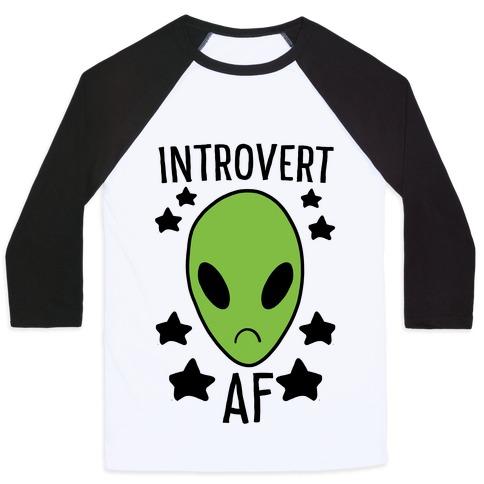 Introvert AF Baseball Tee