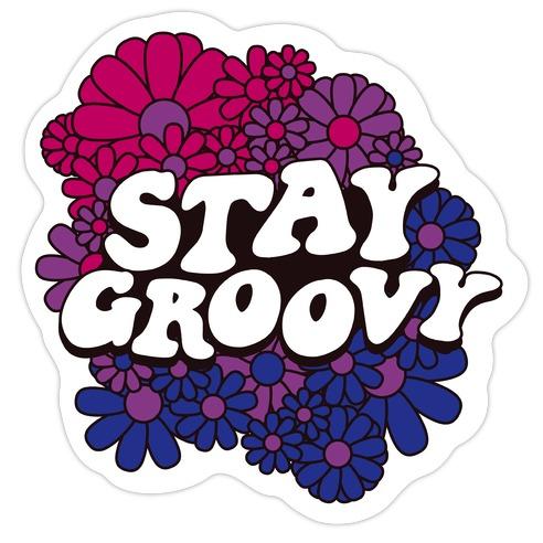 Stay Groovy (Bi Flag Colors) Die Cut Sticker