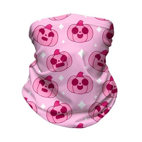 Kawaii Pumpkins Pattern Pink Neck Gaiter