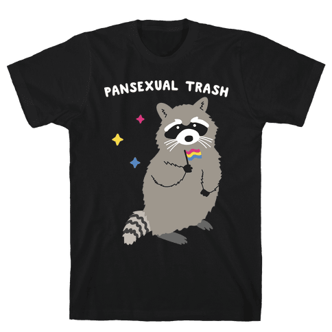 Pansexual Trash Raccoon Mens/Unisex T-Shirt