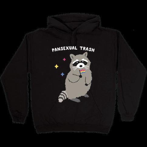 Pansexual Trash Raccoon Hooded Sweatshirt