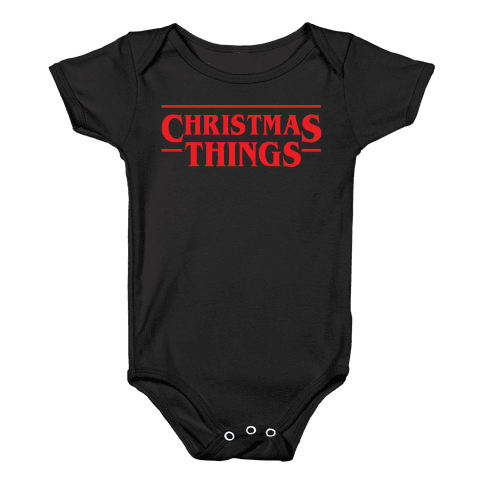 Christmas Things Baby Onesy