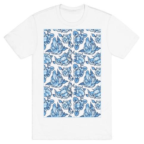 Floral Penis Pattern T-Shirt